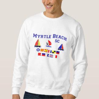Banderas de señal del SC de Myrtle Beach Pull Over Sudadera