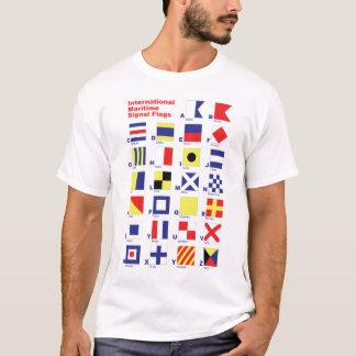 Banderas de señal marítimas internacionales playera