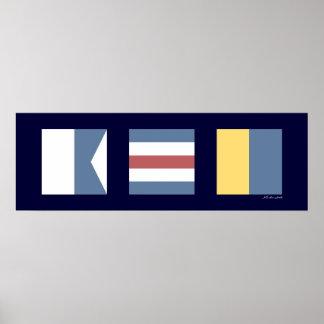 Banderas de señal náutica ACK Nantucket Posters