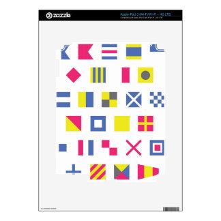 Banderas de señal náutica iPad 3 pegatinas skins
