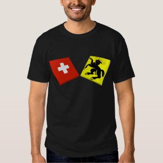 Banderas de Suiza y de Schaffhausen Remera