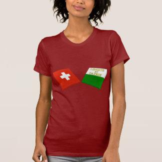 Banderas de Suiza y de Vaud Camisetas