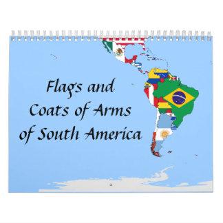 banderas de Suramérica Calendarios De Pared