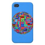 BANDERAS DE THE GLOBE iPhone 4/4S FUNDAS