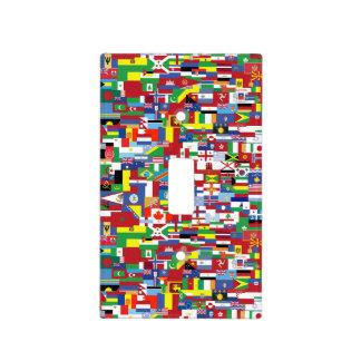Banderas de todas las naciones placa para interruptor