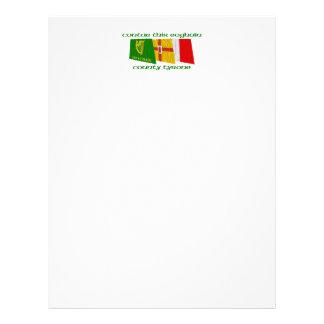 Banderas de Tyrone del condado Membrete Personalizado