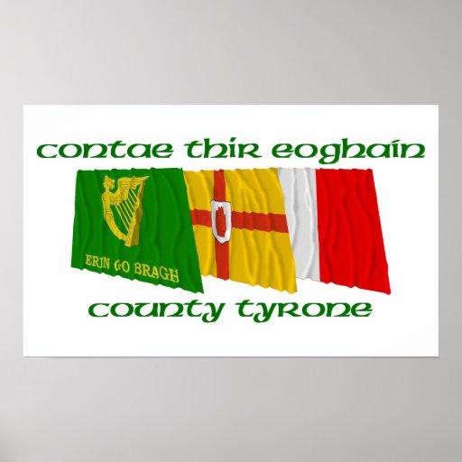 Banderas de Tyrone del condado Posters