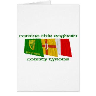 Banderas de Tyrone del condado Tarjeta De Felicitación