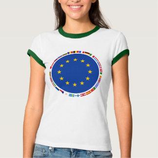 Banderas de unión europea camisas