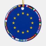 Banderas de unión europea ornamentos para reyes magos