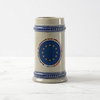 Banderas de unión europea taza
