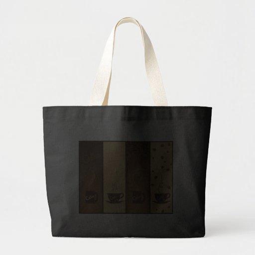 banderas del café del vector bolsa lienzo