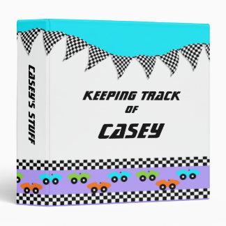 """Banderas del coche de carreras y del inspector carpeta 1 1/2"""""""