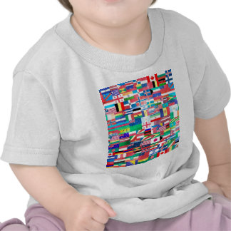 Banderas del collage de las naciones camisetas