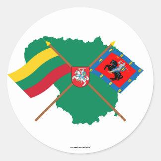 Banderas del condado de Lituania y de Vilna, Etiqueta Redonda