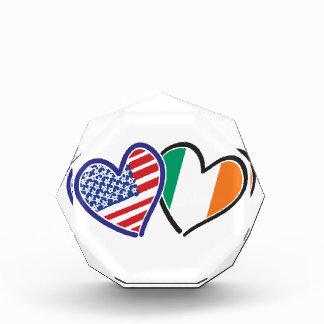 Banderas del corazón de los E.E.U.U. Irlanda