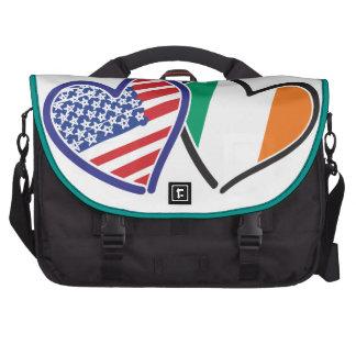 Banderas del corazón de los E.E.U.U. Irlanda Bolsas De Portatil