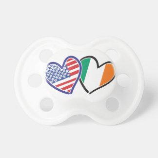 Banderas del corazón de los E.E.U.U. Irlanda Chupetes Para Bebés