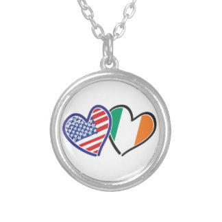 Banderas del corazón de los E.E.U.U. Irlanda Joyerias Personalizadas
