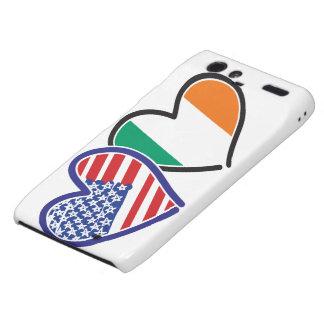 Banderas del corazón de los E.E.U.U. Irlanda Motorola Droid RAZR Funda