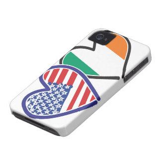 Banderas del corazón de los E.E.U.U. Irlanda Case-Mate iPhone 4 Cobertura