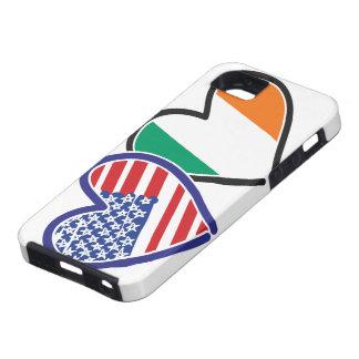 Banderas del corazón de los E.E.U.U. Irlanda iPhone 5 Cobertura