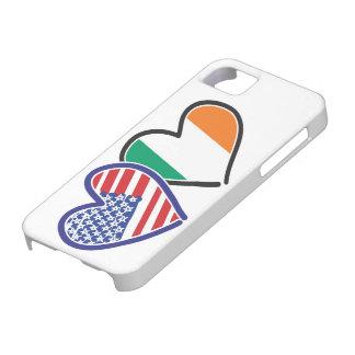 Banderas del corazón de los E.E.U.U. Irlanda iPhone 5 Case-Mate Carcasa