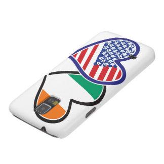 Banderas del corazón de los E.E.U.U. Irlanda Carcasas Para Galaxy S5
