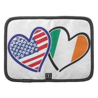 Banderas del corazón de los E.E.U.U. Irlanda Planificador