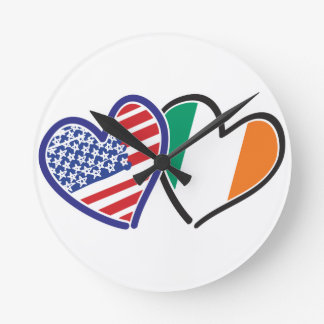 Banderas del corazón de los E.E.U.U. Irlanda Relojes
