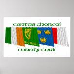 Banderas del corcho del condado poster