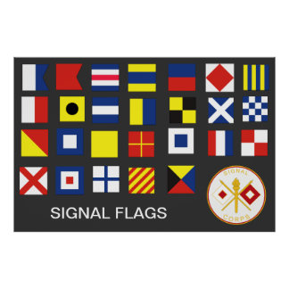 Banderas del cuerpo de la señal (A-Z) Póster