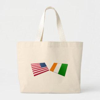 Banderas del d'Ivoire de los E.E.U.U. y de Cote Bolsas