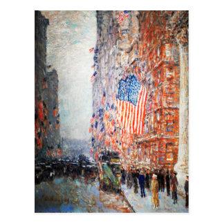 Banderas del en el Waldorf por las postales de