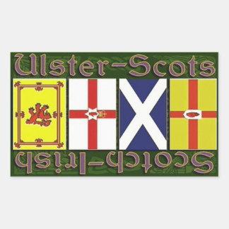 Banderas del escocés y de Ulster Pegatina Rectangular