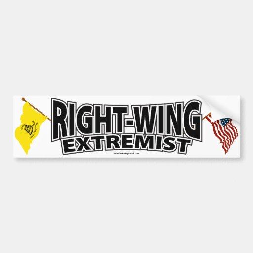 Banderas del extremista de la derecha pegatina para auto