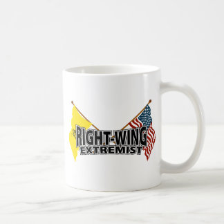 Banderas del extremista de la derecha taza de café