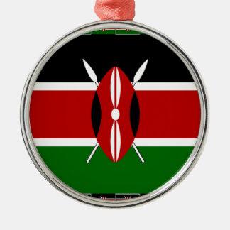 Banderas del Kenyan de Kenia Adorno Navideño Redondo De Metal