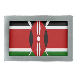 Banderas del Kenyan de Kenia Hebillas De Cinturón Rectangulares