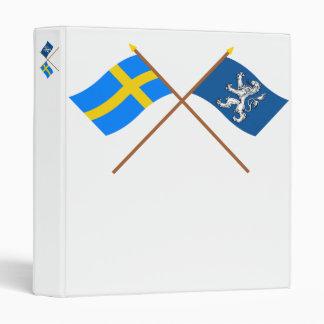 """Banderas del län cruzado de Suecia y de Hallands Carpeta 1"""""""