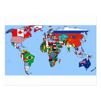 Banderas del mundo 2014 tarjeta postal