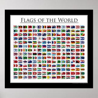 Banderas del mundo - el poster puso al día 2011 póster