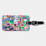 Banderas del mundo etiquetas maletas