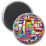 Banderas del mundo iman de frigorífico