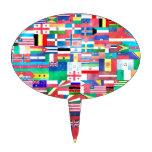 Banderas del mundo palillos de tarta