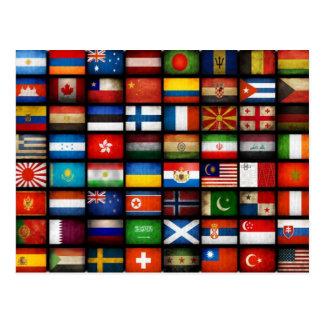 Banderas del mundo postal