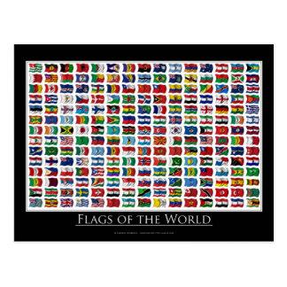 Banderas del mundo - postal
