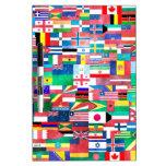 Banderas del mundo tableros blancos