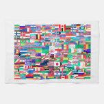 Banderas del mundo toalla