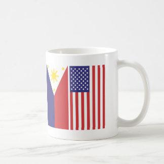 Banderas del pi y de los E.E.U.U. Taza Clásica